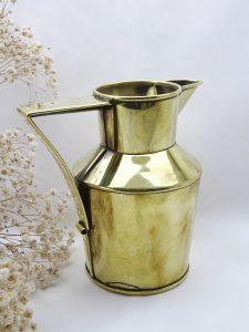 Victorian brass jug by John Marston, Christopher Dresser design. 19th century brass pitcher, antique ewer.