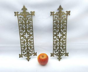Antique Brass Door Finger Plates by William Tonks
