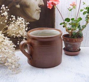 Vintage French stoneware rillette pot