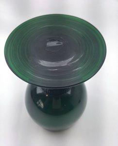 Georgian rummer / roemer Bristol green drinking glass with applied raspberry prunts and threaded foot, Dutch or German wine rum glass c.1820