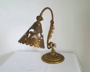 Antique French ormolu desk lamp