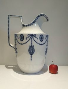 Large Edwardian pitcher by Grimwade Brothers of Stoke on Trent, a huge jug with Adam style Flaxman decoration in the Neoclassical manner
