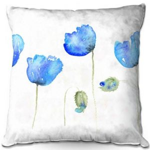 Azure Poppies Cushion