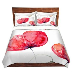 Large Red Poppies Duvet set by Amanda Hawkins