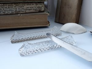 Vintage cut crystal dining ware