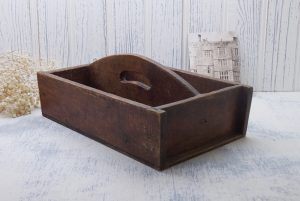Antique cutlery tray, wooden knife box