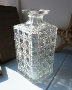 Antique cut glass decanter, ideal as a bud vase