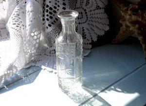Georgian cut glass perfume bottle, ideal as a bud vase