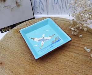 Vintage Watcombe Torquay seagull pin dish, seascape design, Devon ware pottery trinket dish, souvenir of the West Country, trinket dish