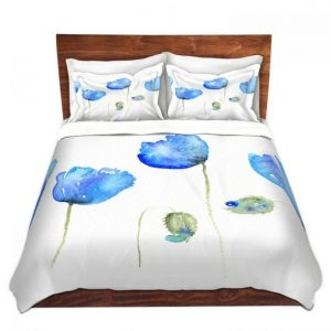 Azure Poppies by Amanda Hawkins for DiaNoche Designs