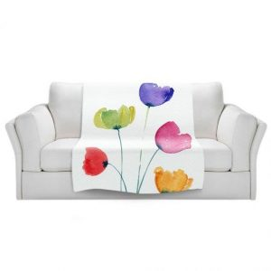 Colourful Poppies Throw by Amanda Hawkins