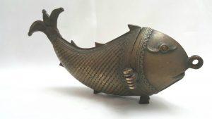 Antique brass Besamin spice container