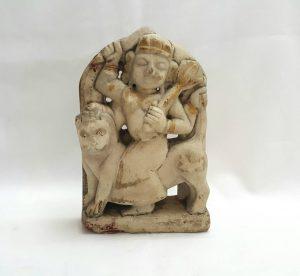 19th Century Indian carved alabaster Shiva deity