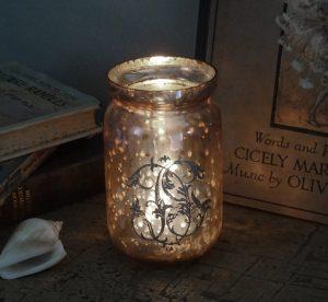 Vintage French verre eglomise jar