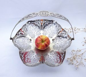 Victorian silver plated fruit basket