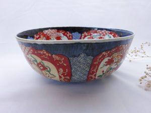 Antique Japanese Imari bowl, 19th century large Imari fruit bowl