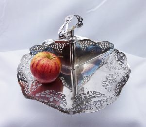 Antique Silver Plated Bonbon Dish by Charles Green & Co