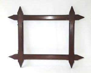 Victorian Gothic Oak Picture Frame