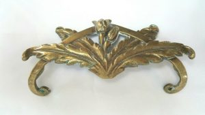 Antique French cast brass furniture embellishment