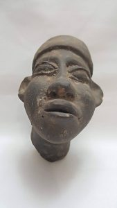 antique African terracotta clay head