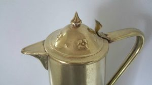 Art Nouveau Brass Ewer with Lid by Joseph Sankey