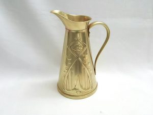 Art Nouveau brass jug by Joseph Sankey & Sons
