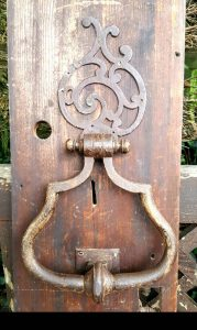 18th Century French Iron Door Knocker of Large Proportions
