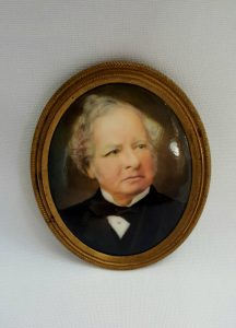 antique miniature painting of The Earl Granville by John William Bailey.