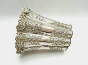 19th century Persian silver vase