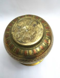Antique Indian brass and copper lota