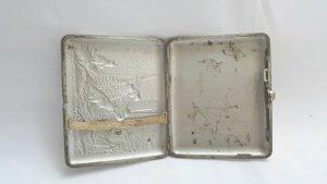 Vintage Russian Silver Plated Cigarette Case
