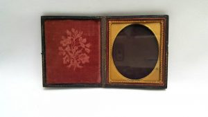 19th Century Leather Travelling Photograph Frame