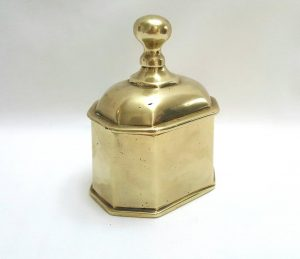 19th century brass caddy