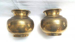 19th Century Indian Brass Lotas