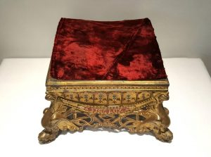 a 19th Century French or Italian ormolu gilt bronze socle