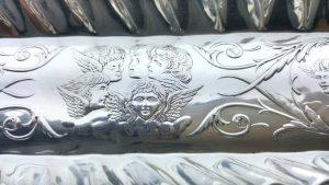 Sterling silver pen tray by James Deakin & Sons