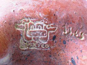 Vintage Mexican Aztec style pottery jug