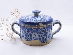 18th Century Dutch Delft posset pot