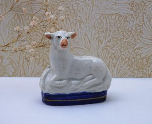 Staffordshire sheep ornament
