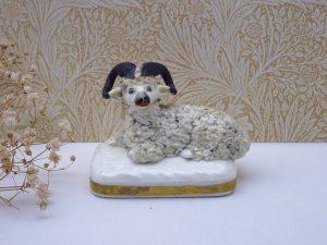 19th century Staffordshire sheep figurine