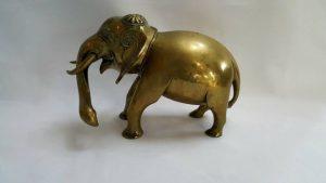Vintage Sri Lankan Brass Elephant