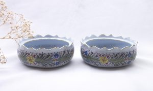 Pair 18th Century Delft butter tubs by Antony Pennis, signed Dutch Delft butter dishes ( no lids) De Twee Scheepjes, AP mark registered 1764