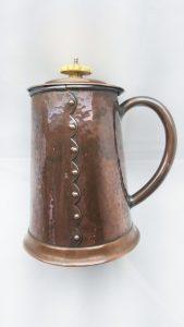 Arts & Crafts hammered copper lidded vessel by Henry Loveridge Wolverhampton