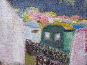 Impressionist Oil Painting ~ Caravans at Seamill by A.C.G. Ross