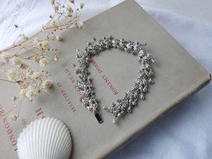 Vintage marcasite bracelet in its original box ~ genuine marcasite crystals ~ red velvet lined & satin box ~ vintage jewellery ~ 18 cm long