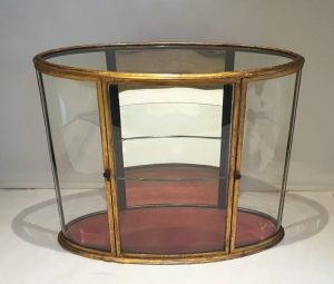 Rare Georgian Gilded Oval Vitrine