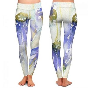 DiaNoche Designs - Cottage Garden leggings by Amanda Hawkins