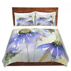 DiaNoche Designs - Cottage Garden pillow and duvet cover by Amanda Hawkins