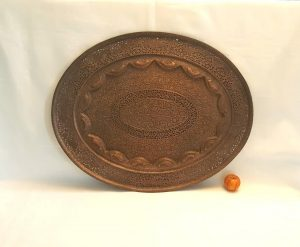 Antique huge Kashmiri Copper Tray