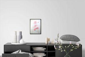 Watercolour painting of pink flowers ~ original art by artist Amanda Hawkins ~ Wild Garden ~ botanical art ~ unframed artwork ~ wall art